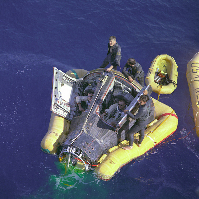 Armstrong and Scott with Hatches Open