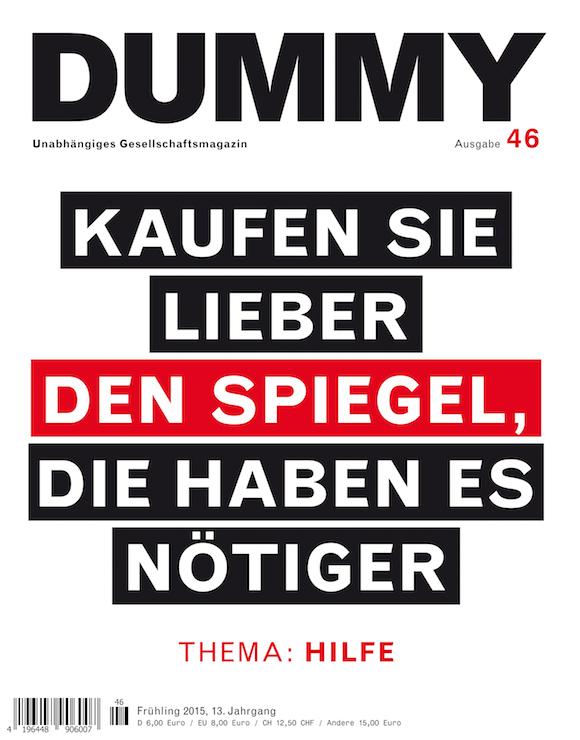 Dummy-Cover: Kaufen Sie lieber den Spiegel, die haben es nötiger