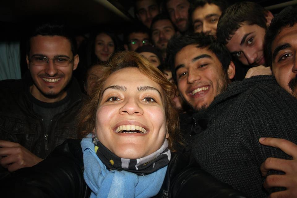 Protestors in Turkey redo the Ellen Selfie inside a police van